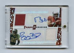 2006 Topps Paradigm Dual Autograph Dual Patches #LB Matt Leinart/Reggie Bush/10