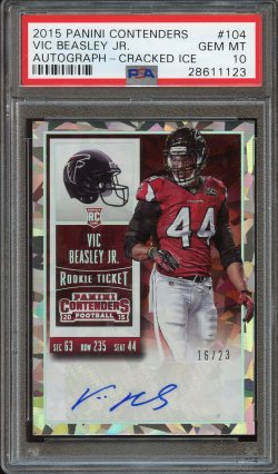 2015 Panini Contenders Cracked Ice Auto Vic Beasley Jr