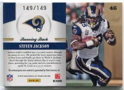 2011 Panini Totally Certified Steven Jackson Piece of the Game Back