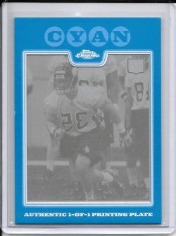 2008 Topps Chrome Cyan Printing Plate - Marcus Griffin