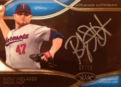 2014 Topps Tier One Acclaimed Autographs Silver Ink Ricky Nolasco AA-RNO