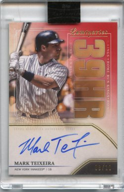 2020 Topps Luminaires Mark Teixeira Home Run King Auto Red