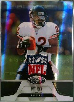 2011 Panini Certified Matt Forte mirror black NFL shield 1/1