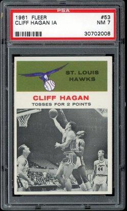 1961 Fleer In Action Cliff Hagan