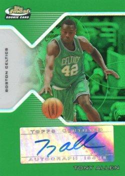 2004-05 Topps Finest Allen, Tony - Refractors Green