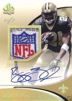 2006 SP Authentic Rookie Autographed NFL Logo Patches #252 Reggie Bush JSY AU 1/1 (DONT HAVE)