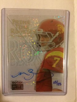 2013 Upper Deck Fleer Retro Matt Barkley Skybox Premium Prime Time Rookies Autograph