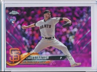 Chris Stratton 2018 Topps Chrome Update Pink Refractor RC