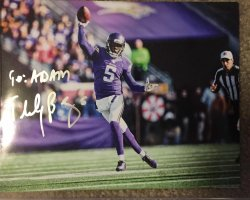 Teddy Bridgewater Signed 8x10