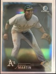 2016 Bowman Chrome Propsepcts Blue Twitter Refractor Richie Martin