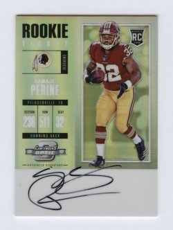 2017 Panini Contenders Optic #115 Samaje Perine AU RC