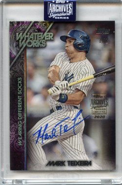 2020 Topps Archives Signatures Retired Mark Teixeira 2015 Topps Update Whatever Works