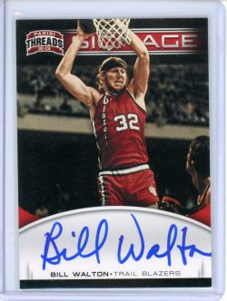 2012-13 Panini Threads Bill Walton Signage Auto