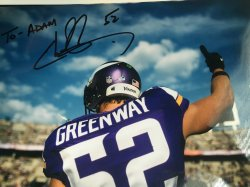 Chad Greenway Personalized 8x10