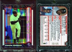 1999  Bowman Chrome Gold Refractors Frank Thomas