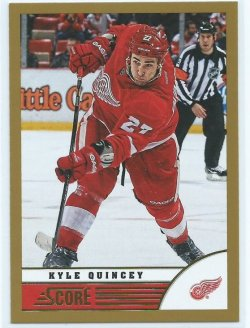 2014 Panini Score Kyle Quincey Gold