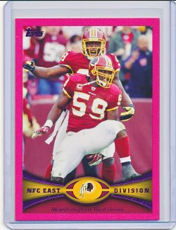 Brian Orakpo and London Fletcher 2012 Topps Pink /399