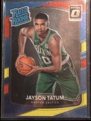 2017-18 Panini Donruss Optic Mega Box Rated Rookie Red Yellow #198 Jayson Tatum RR