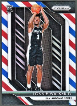 2018-19   Lonnie Walker IV Red White Blue Refractor RC