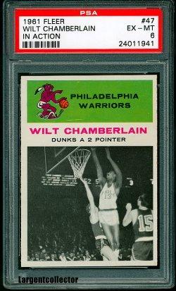 1961 Fleer In Action Wilt Chamberlain