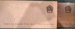 1993  Classic Football Draft Gold Complete Set