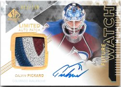 2013-14 Upper Deck SP Authentic Future Watch Limited Auto Patch Calvin Pickard