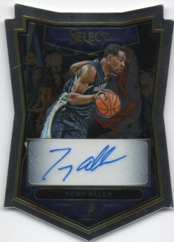 2015-16 Panini Select Allen, Tony - Die Cut Autographs