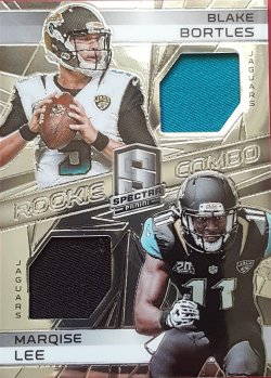 2014 Panini Spectra Blake Bortles / Marquise Lee Dual Rc Jsy