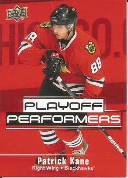 2009 Upper Deck playoff performer Patrick Kane
