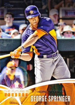 2014 Topps  George Springer The Future Is Now