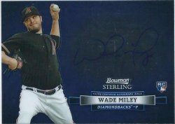2012 Topps Bowman sterling Wade Miley auto