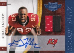 2010 Panini Plates and Patches Rookie Blitz Autograph Materials Prime Gerald McCoy