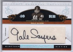 2007 Playoff National Treasures Gale Sayers All Decade Autograph