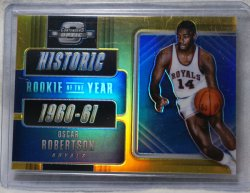 2018 Panini Optic Contenders Oscar Robertson rookie of the year gold