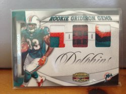 2011 Donruss Gridiron Gear Daniel Thomas Patch Football /50