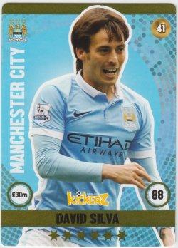 2015-16  Kickerz Football cards #41 David Silva