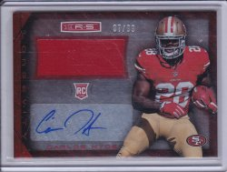 Carlos Hyde 2014 R&S Longevity Rookie Jersey Autographs Longevity Ruby /99
