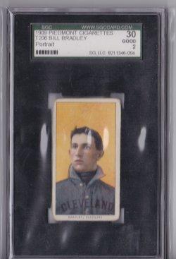 1909  T206 Piedmont 150 Bill Bradley
