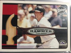 2003 Upper Deck Vintage - Dropping the Hammer  Todd Helton