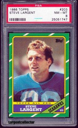1986 Topps All - Pro Steve Largent