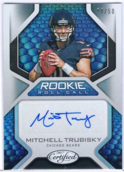 2017 Panini Certified Mitchell Trubisky Rookie Roll Call
