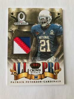 2013 Panini Crown Royale All Pro Patrick Peterson Patch /25