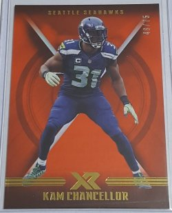 2017 Panini XR Orange Parallel Kam Chancellor
