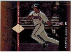 2001 Leaf Limited Game Used Bat Andruw Jones