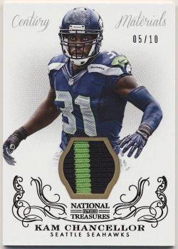 2013 Panini National Treasures Prime Kam Chancellor