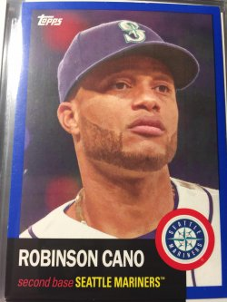 2016 Topps Archives - Blue Parallel Robinson Cano