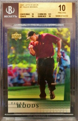 2001 Upper Deck Golf Tiger Woods