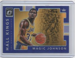 2017 Panini optic Magic Johnson hall kings purple