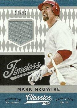 2014 Panini Classics Timeless Treasures Jerseys Mark McGwire