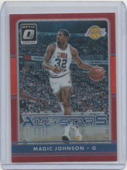 2016 Panini Optic Magic Johnson All Star red
